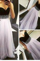 A Line Sweetheart Tulle Long Prom Dress,Floor-length Prom Dress,Cheap Prom Dress,Prom Dress For Juniors And Teens,PD006