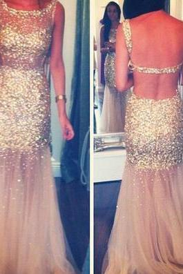 Sparkly Prom Dress,Mermaid Prom Dress,Sexy Prom Dress,Open Back Prom Dress,Charming Prom Dress,Evening Dress,PD0350