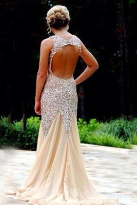 Long Prom Dress,2016 Prom Dress,Sexy Prom Dress,Rhinestone Prom Dress,Sleeveless Prom Dress,Evening Dress,Graduation Dress,PD0354
