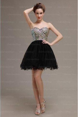 Short Prom/Homecoming Dress,Cute Homecoming Dress,Sweetheart Evening Dress,Party Dress,Rhinestone Prom Dress,PD0373