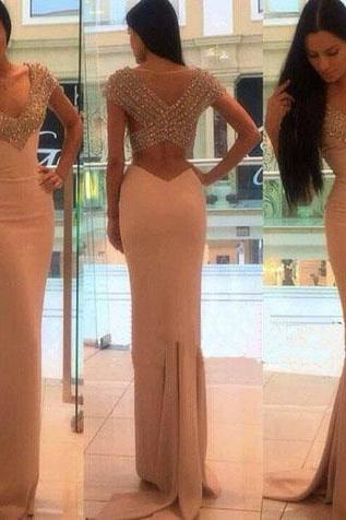 Long Prom Dresses,206 Prom Dresses,White Prom Dresses,Prom Dresses With Pearls,Tulle Prom Dresses,Wedding Dresses,Formal Dresses,Backless Prom Dresses,PD0481