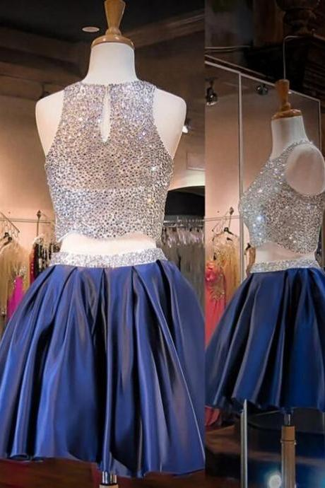 Homecoming Dresses,Sequin Homecoming Dresses,Two Pieces Homecoming Dresses,Gorgeous Homecoming Dresses,Stunning Short Prom Dresses,Cheap Homecoming Dresses,PD0532