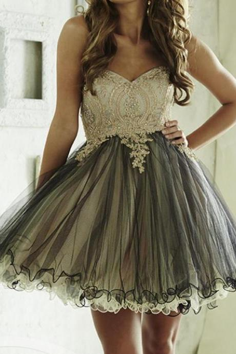 Sweetheart Homecoming Dresses, Rhinestone Homecoming Dresses, Lace Homecoming Dresses, Organza Homecoming Dresses ,Short Prom Dresses, Homecoming Dresses, Cheap Homecoming Dresses, Popular Homecoming Dresses, PD0769