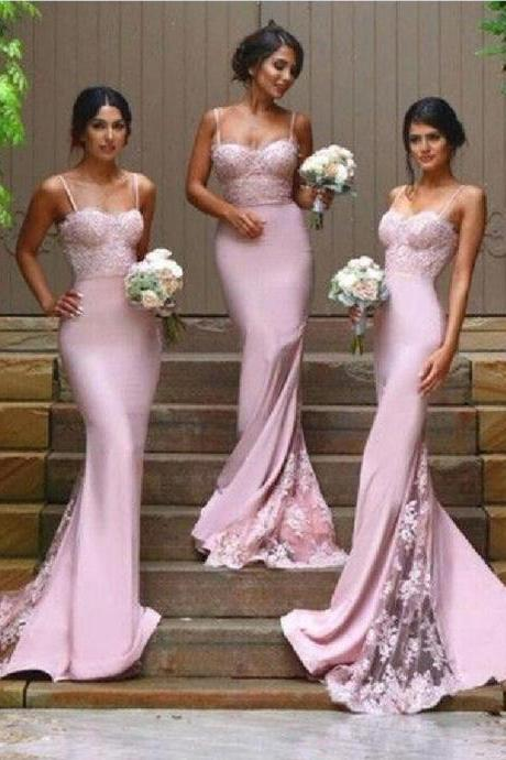 Spaghetti Bridesmaid Dresses, Lace Bridesmaid Dresses, Mermaid Bridesmaid Dresses, Lace Bridesmaid Dresses, Cheap Bridesmaid Dresses, Bridesmaid Dresses, Popular Bridesmaid Dress,PD0800
