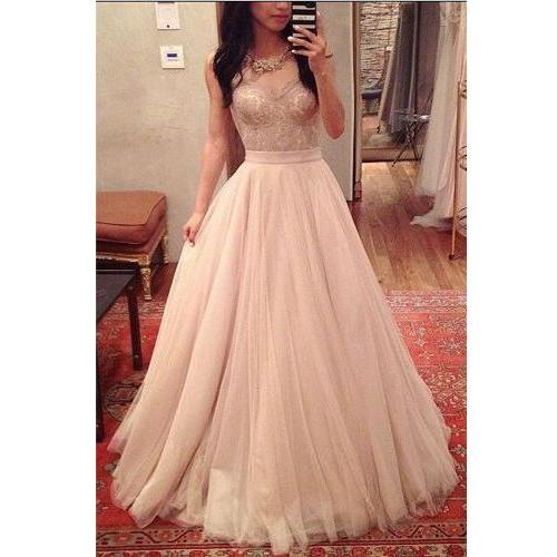 Long Prom Dress,V-Neck Prom Dress,Sleeveless Prom Dress,Lace Prom Dress,Tulle Prom Dress,Elegant Prom Dress,,PD0258