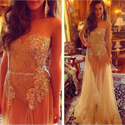 Long prom dress,see through prom dress,rhinestone prom dress,tulle prom dress,long sleeve prom dress,sexy prom dress,evening dress,2016 prom dress,PD0399